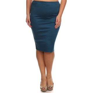 Women's Solid Polyester/Spandex Pencil Skirt (3 options available)
