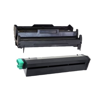 2PK Compatible 43502001 43501901 Toner and Drum Cartridge For Okidata B4400 B4600 ( Pack of 2 )