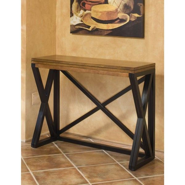 Intercon Siena Black and Cider Counter Height Breakfast Bar