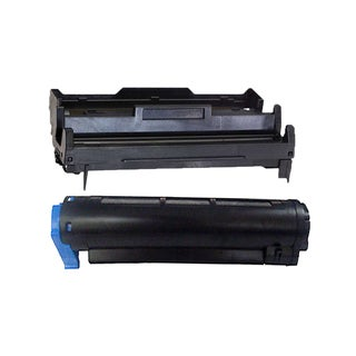 2PK Compatible 43502002 43501901 Toner and Drum Cartridge For Okidata B4400 B4600 ( Pack of 2 )