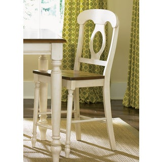Farmhouse Linen Sand and Bronze Napolean Barstool