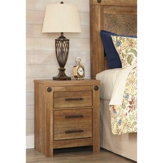 Signature Design by Ashley Ladimier Golden Brown Two Drawer Night Stand
