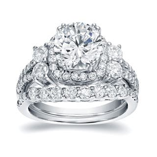 Auriya Platinum 2 1/3ct TDW Certified Round Cut Diamond Bridal Halo Ring Set|https://ak1.ostkcdn.com/images/products/13093673/P19827220.jpg?impolicy=medium