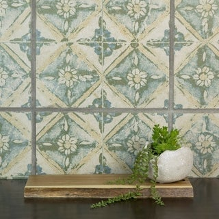 SomerTile 12.75x12.75-inch Clinker Retro Blanco Dafodil Quarry Floor and Wall Tile (6 tiles/7.04 sqft.)