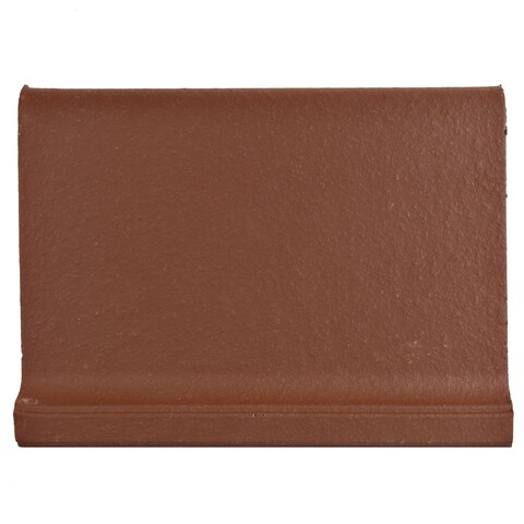 SomerTile 4.375x5.875-inch Clinker Skirting Red Quarry Floor and Wall Tile