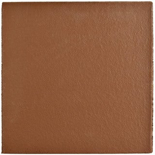 SomerTile 5.875x5.875-inch Clinker Edge Red Quarry Bullnose Floor and Wall Trim Tile