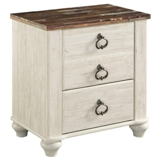 Signature Design by Ashley Willowton Two-tone Two Drawer Night Stand