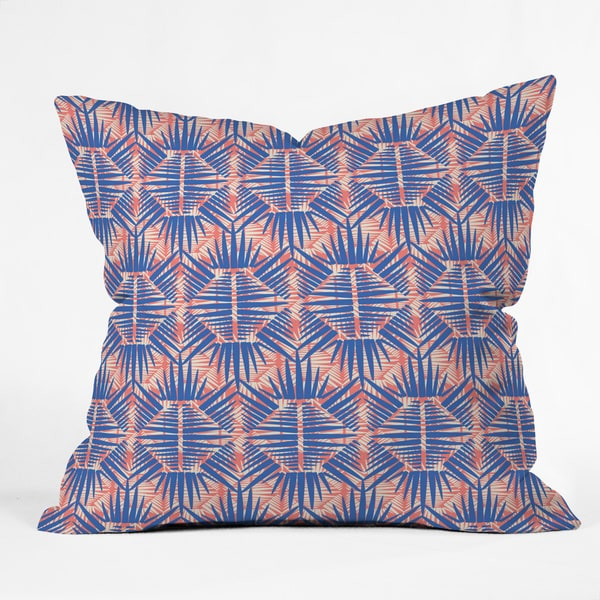 Zoe Wodarz 'Hot Tropic Blues' Multicolor Polyester Throw Pillow