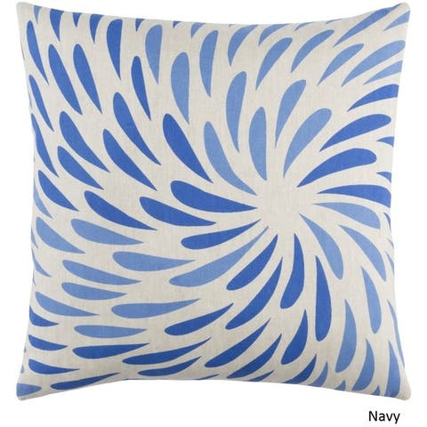 Decorative Pontoise 22-Inch Feather Down or Poly Filled Throw Pillow