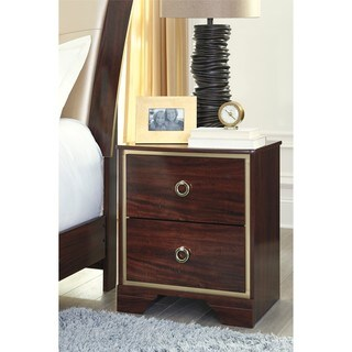 Signature Design by Ashley Lenmara Reddish Brown Two Drawer Night Stand