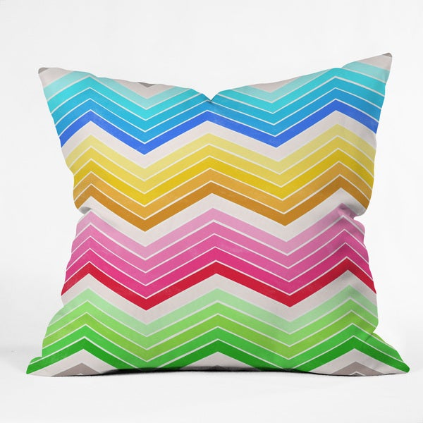 Garima Dhawan Journey 4 Multicolored Polyester Throw Pillow