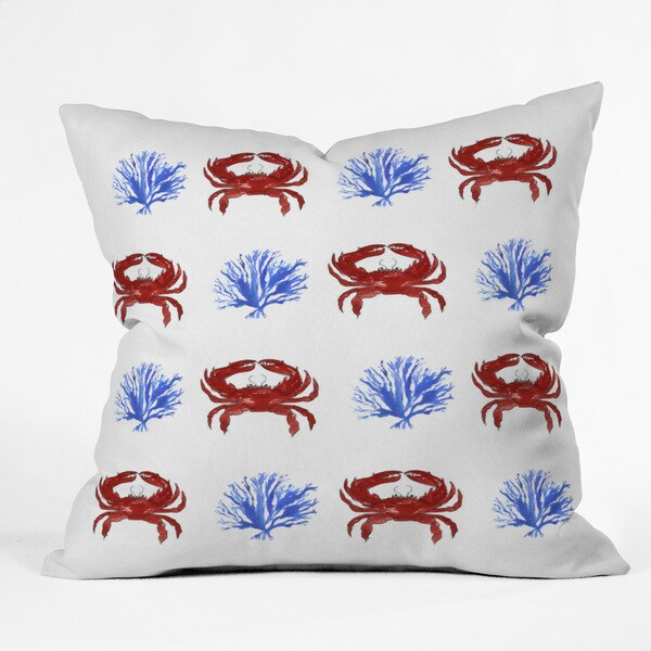 Deny Designs Laura Trevey Red, White, And Blue Polyester Throw Pillow - Free Shipping Today ...