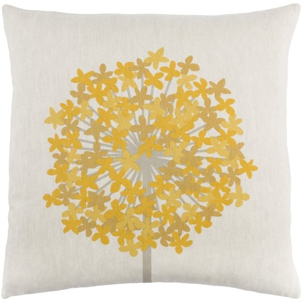 Decorative Perthshire 22-Inch Feather Down or Poly Filled Throw Pillow