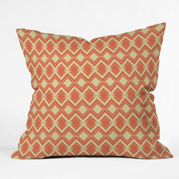 Craftbelly Tribal Persimmon Polyester Throw Pillow