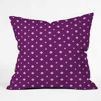 Craftbelly Twinkle Fuchsia Polyester Throw Pillow