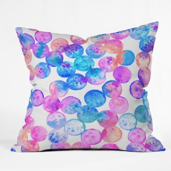 Dash And Ash In A Dream Multicolor Polyester Throw Pillow
