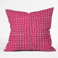 Leah Flores Rose Scribble Dots Polyester Throw Pillow