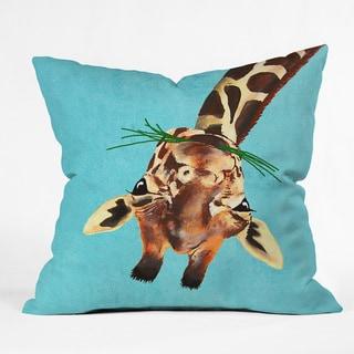 Deny Designs Coco De Paris Multicolored Polyester Giraffe Upside-down Throw Pillow