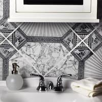 SomerTile 12.5x12.5-inch Stellar Nero Ceramic Floor and Wall Tile (10 tiles/11.29 sqft.)
