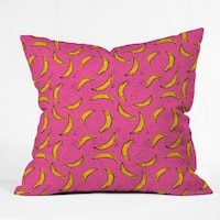 Deny Designs Holli Zollinger Folka Banana Pink and Yellow Polyester Throw Pillow