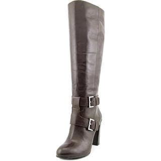 Nine West Women's 'Skylight Wide Calf' Brown Leather Boots