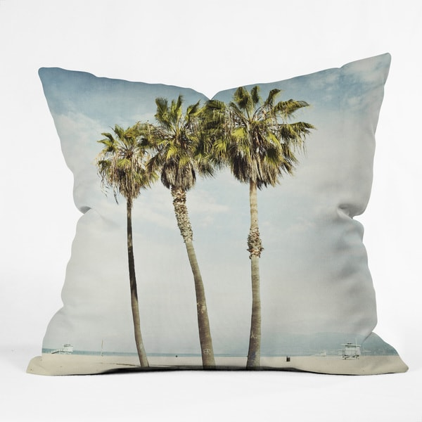 Bree Madden 'Venice Beach Palms' Multicolored Polyester Throw Pillow