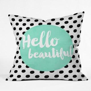 Allyson Johnson Mint Hello Beautiful Polyester Throw Pillow