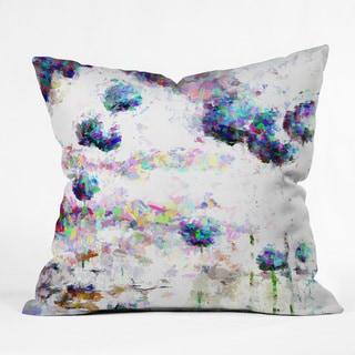 Ginette Fine Art Abstract Allium Magic Polyester Throw Pillow
