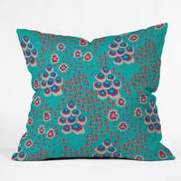Holli Zollinger Liberty Turquoise Polyester Throw Pillow