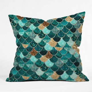 Deny Designs Monika Strigel Really Mermaid Polyester Throw Pillow