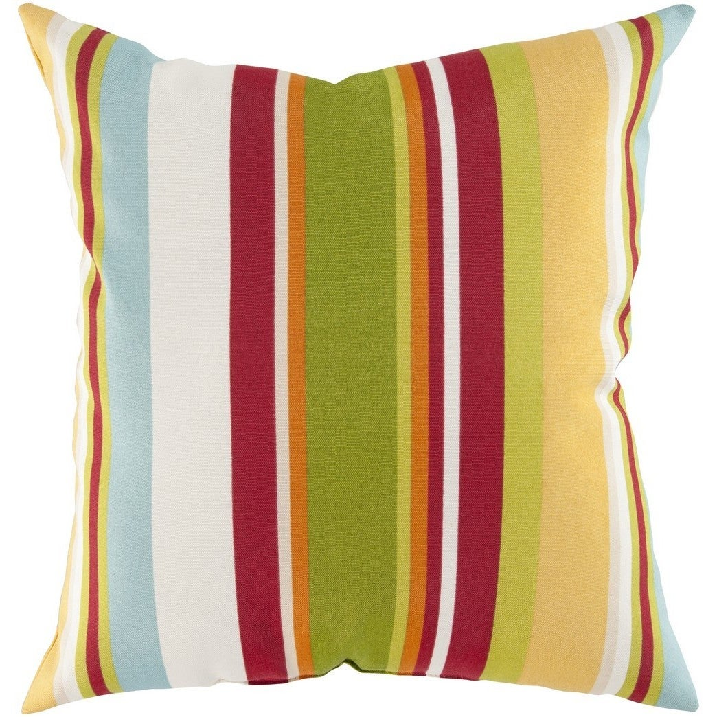 Decorative Alexis 22-Inch Feather Down or Poly Filled Throw Pillow (Green - Indoor/Outdoor/Floor)