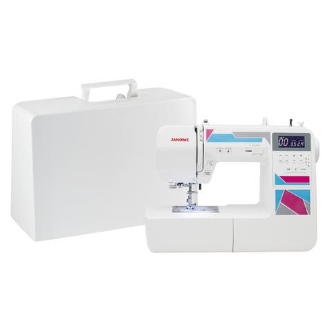Janome MOD-200 Fully-featured Computerized Sewing Machine with 200 Stitches, 12 Buttonholes, Hard Cover and Bonus Presser Feet
