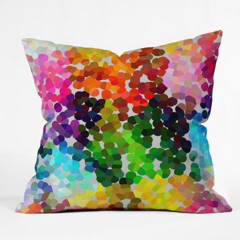 Deny Designs Three Of The Possessed Winter 1998 Multicolored Polyester Throw Pillow
