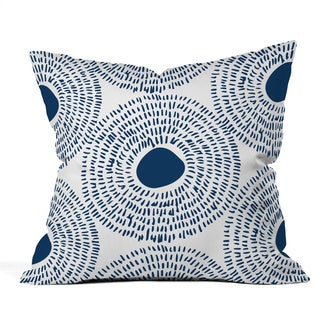 Deny Designs Camilla Foss Circles In Blue Ii Throw Pillow