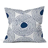 Deny Designs Camilla Foss Circles In Blue Ii Throw Pillow