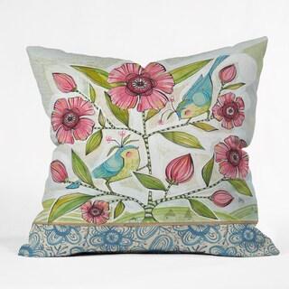 Cori Dantini 'Blue Birds of Happiness' Multicolor Polyester Throw Pillow