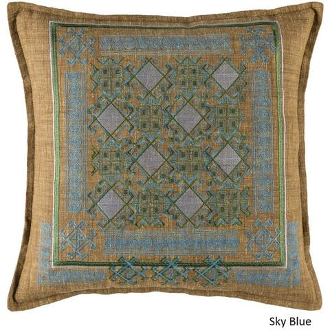 Decorative Rachel 20-Inch Feather Down or Poly Filled Pillow