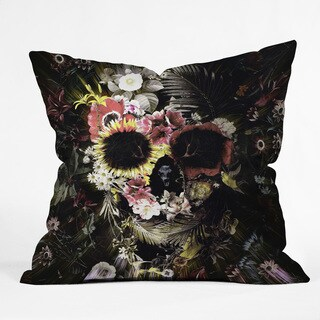 Ali Gulec Garden Skull Multicolor Polyester Throw Pillow
