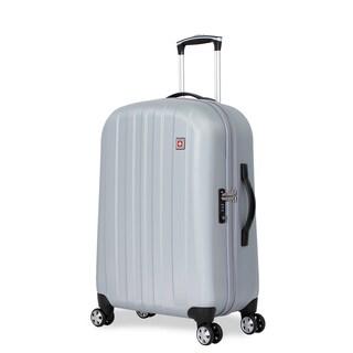 SwissGear Silver-tone Polypropylene 24-inch Hardside Spinner Suitcase