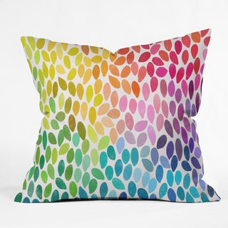 DENY Designs Garima Dhawan Rain 11 Multicolor Polyester Throw Pillow in 3 Sizes