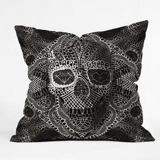 DENY Designs Ali Gulec Lace Skull Throw Pillow