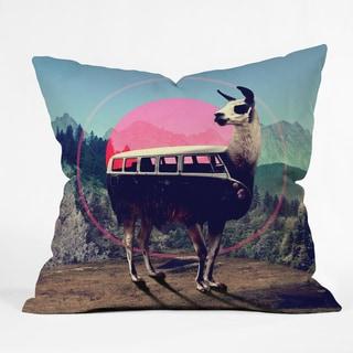 Ali Gulec Llama Van Polyester Throw Pillow