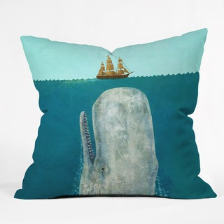 Terry Fan The Whale Throw Pillow
