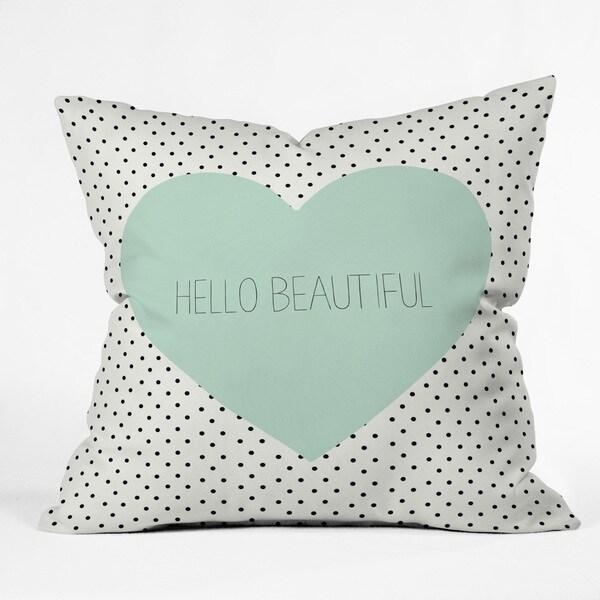 Allyson Johnson Hello Beautiful Heart Throw Pillow