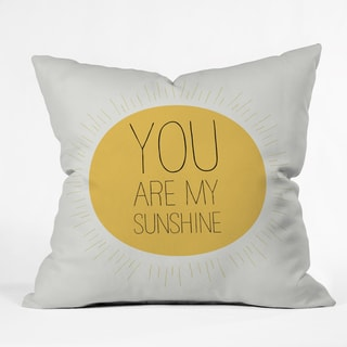 Allyson Johnson You Really Are My Sunshine Polyester Throw Pillow