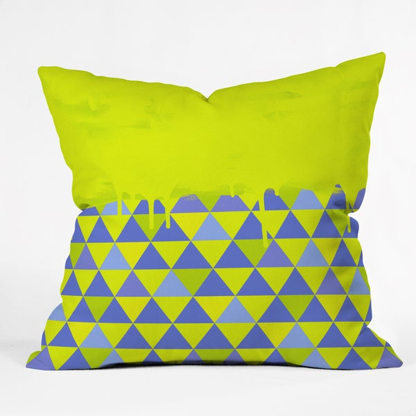 Jacqueline Maldonado Triangle Dip Lime Polyester Throw Pillow