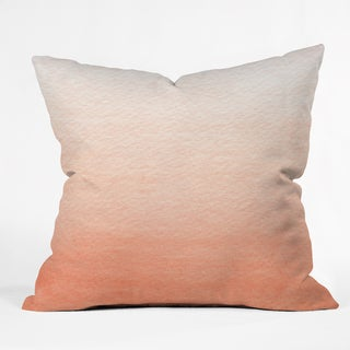 Deny Deisngs Social Proper Peach Ombre Polyester Throw Pillow