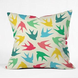 Jacqueline Maldonado Birds Multicolored 26 x 26, 20 x 20, 16 x 16 Throw Pillow