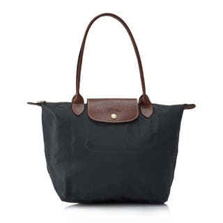 Longchamp Le Pliage Grey Nylon Foldable Shoulder Tote Bag|https://ak1.ostkcdn.com/images/products/13096714/P19829881.jpg?impolicy=medium