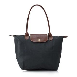 Longchamp Le Pliage Grey Nylon Foldable Shoulder Tote Bag